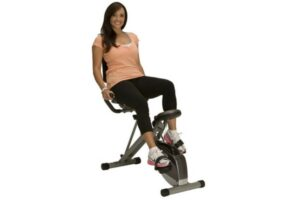 Exerpeutic 400XL Folding Recumbent Exercise Bike with Pulse