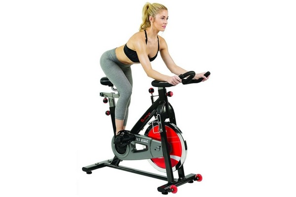 Sunny Health & Fitness SF-B1002 Belt Drive Indoor Cycling Bike Grey