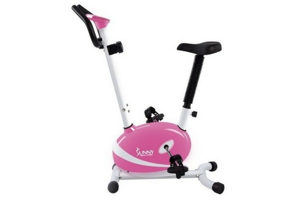 Sunny Health And Fitness P8200 Pink Magnetic Upright Bike