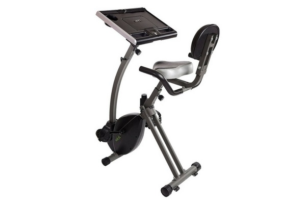 Stamina Wirk Ride Exercise Bike Cycling Workstation and Standing Desk