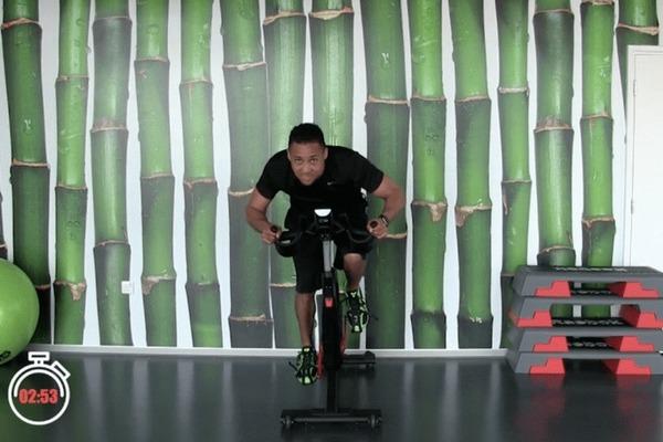 a vigorous workout