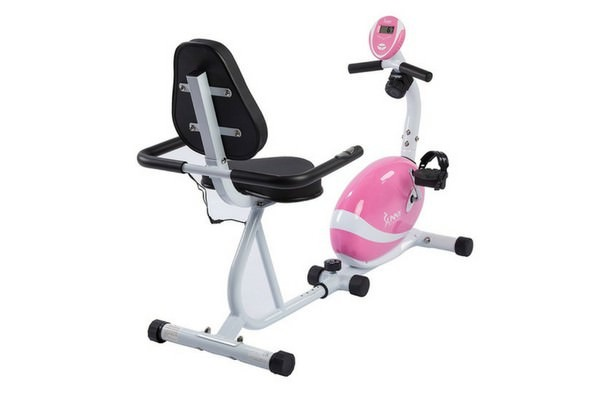 Sunny Health And Fitness P8400 Pink Magnetic Recumbent Bike